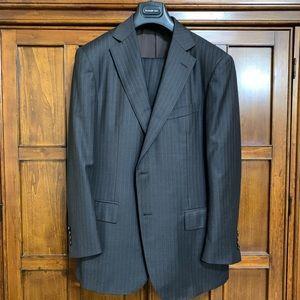 Ermenegildo Zegna Trofeo Gray Stripped Suit - 42